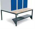 Bild Skohylla för sittbänk och hög benram