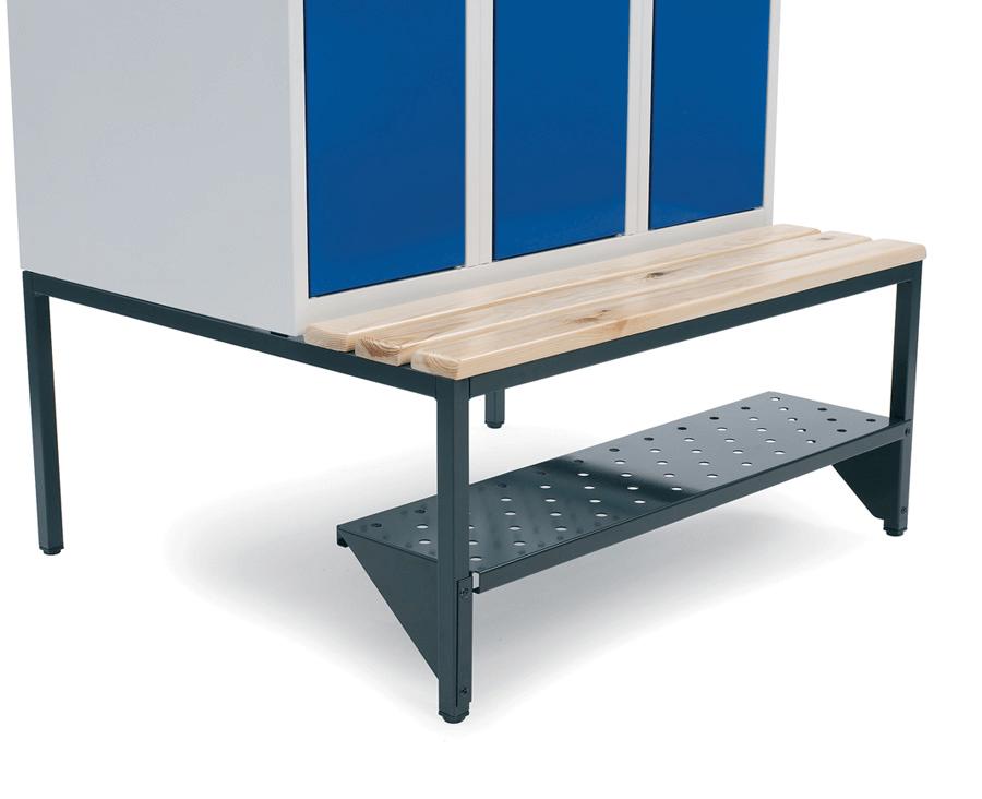 Skohylla för sittbänk och hög benram