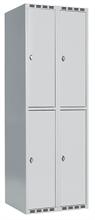Skåp delad dörr, 2 fack i höjd, B600