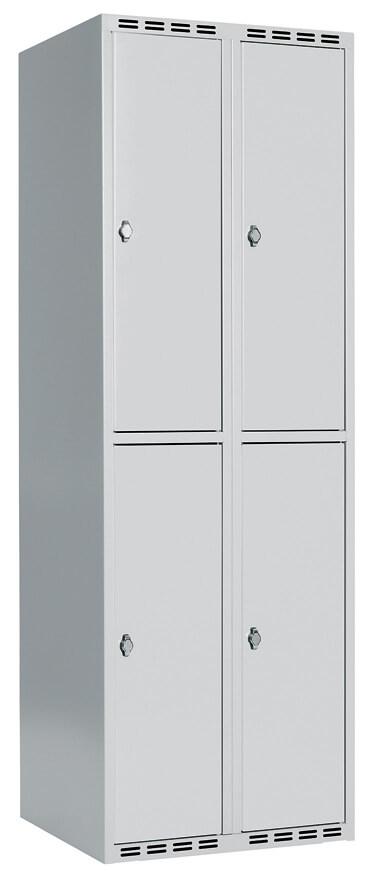 Skåp delad dörr, 2 fack i höjd, B800