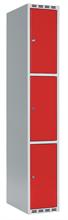 Skåp delad dörr, 3 fack i höjd, B300