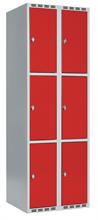 Skåp delad dörr, 3 fack i höjd, B600