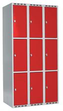 Skåp delad dörr, 3 fack i höjd, B900
