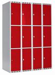 Skåp delad dörr, 3 fack i höjd, B1200