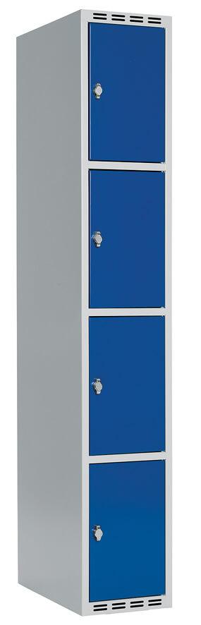 Skåp delad dörr, 4 fack i höjd, B300