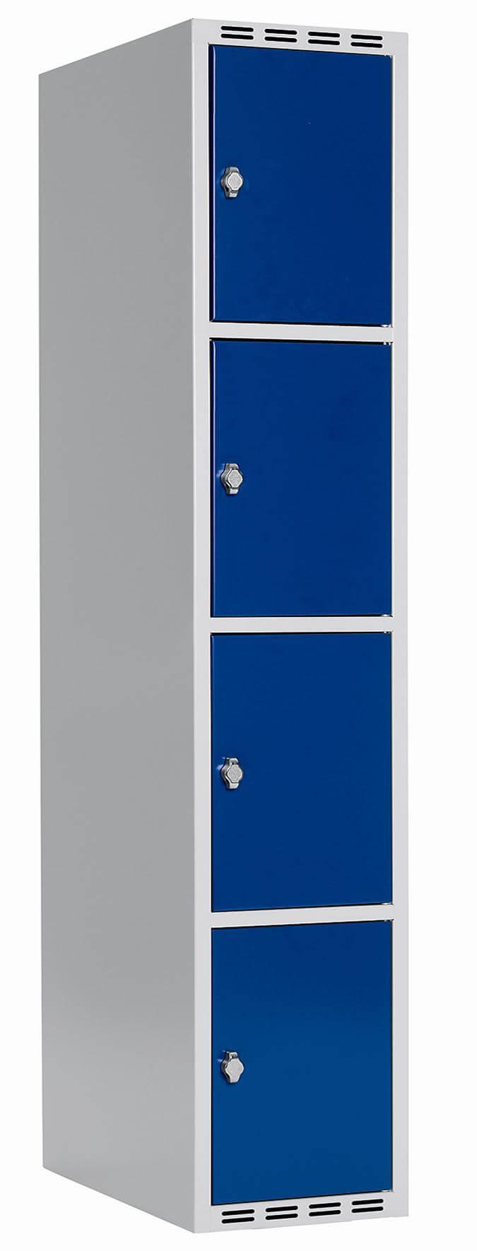 Skåp delad dörr, 4 fack i höjd, B400