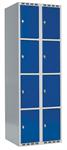 Skåp delad dörr, 4 fack i höjd, B600