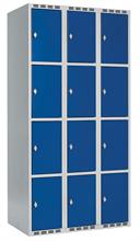 Skåp delad dörr, 4 fack i höjd B900