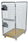 Rullcontainer, 4 sidor och 2 dörrar