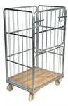 Rullcontainer 4 sidor - träbotten