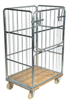 Rullcontainer, 1 halvhängd grind