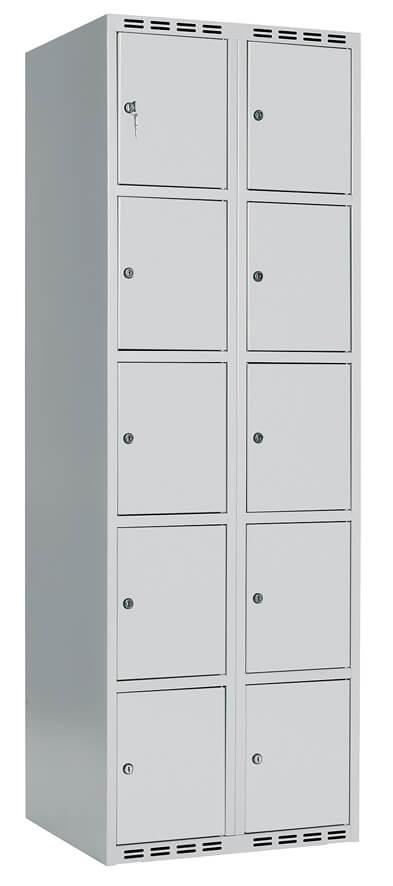 Skåp delad dörr, 5 fack i höjd, B800