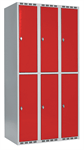 Skåp delad dörr, 2 fack i höjd, B900