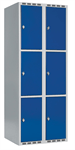 Skåp delad dörr, 3 fack i höjd, B800