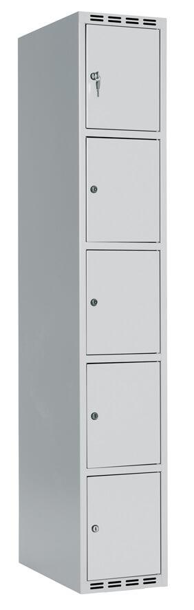 Boxskåp FFF, 5 i höjd, Cylinderlås