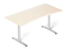 Profi skrivbord svängd björk 65