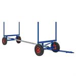 Långgodsvagn för långt och tungt gods