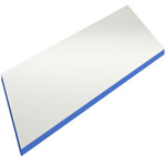 Ljusbeige laminat/kantlist blå