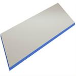 Grå vinyl/ kantlist blå