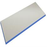 Grå vinyl/ kantlist blå tung bordsskiva