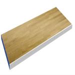 Ekparkett/kantlist aluminium och blå tung bordsskiva
