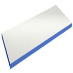 Beige laminat/kantlist blå tung bordsskiva