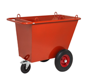 Avfallsvagn - Luftgummihjul