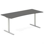 Höj- och sänkbart bord med båge- antracit 1600x800