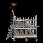 Plockvagn-E-handelsvagn med dubbla stegar