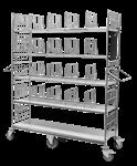 Plockvagn-E-handelsvagn av små artiklar