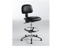 Saloon - hög arbetsstol med fotring