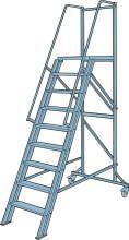 Proffs Trappa med Skyddsräcke 2,4 m